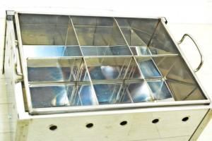 おでん鍋 6区切 都市ガス 天然ガス 木蓋付 厨房機器 屋台 -2